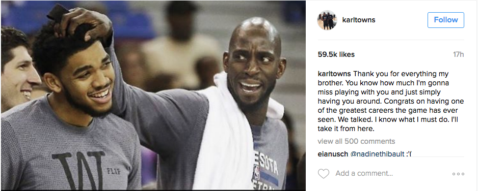How the League Reacted to KG's Retirement