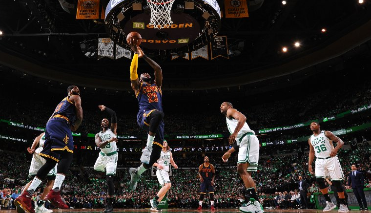 new style 76b45 09139 LeBron reaches new heights as Celtics season ends with 135 ...